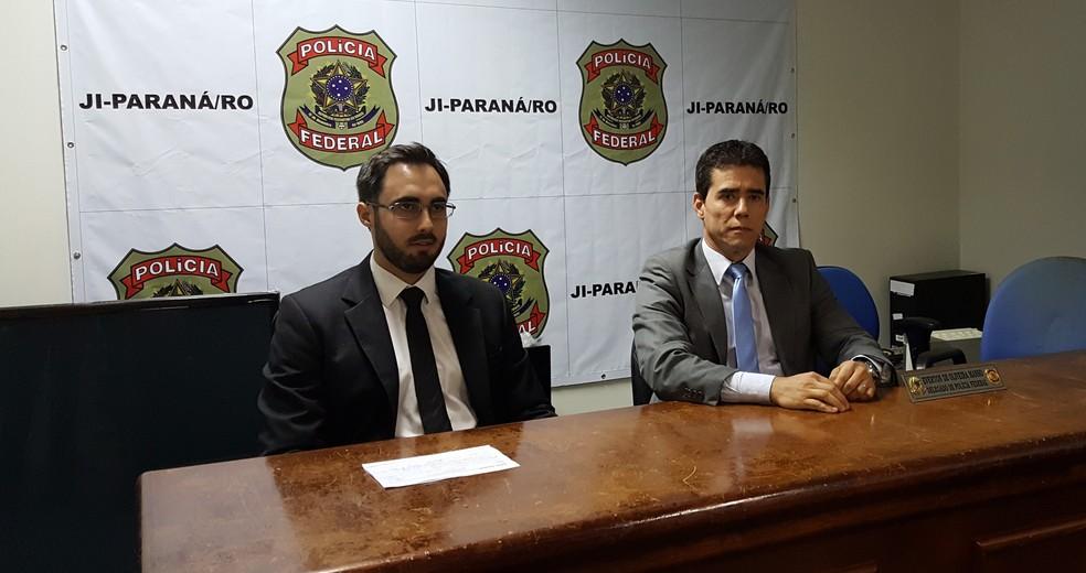 Delegados Everton Mans e André Luiz falam sobre a Operação Warã (Foto: Marco Bernardi/G1)