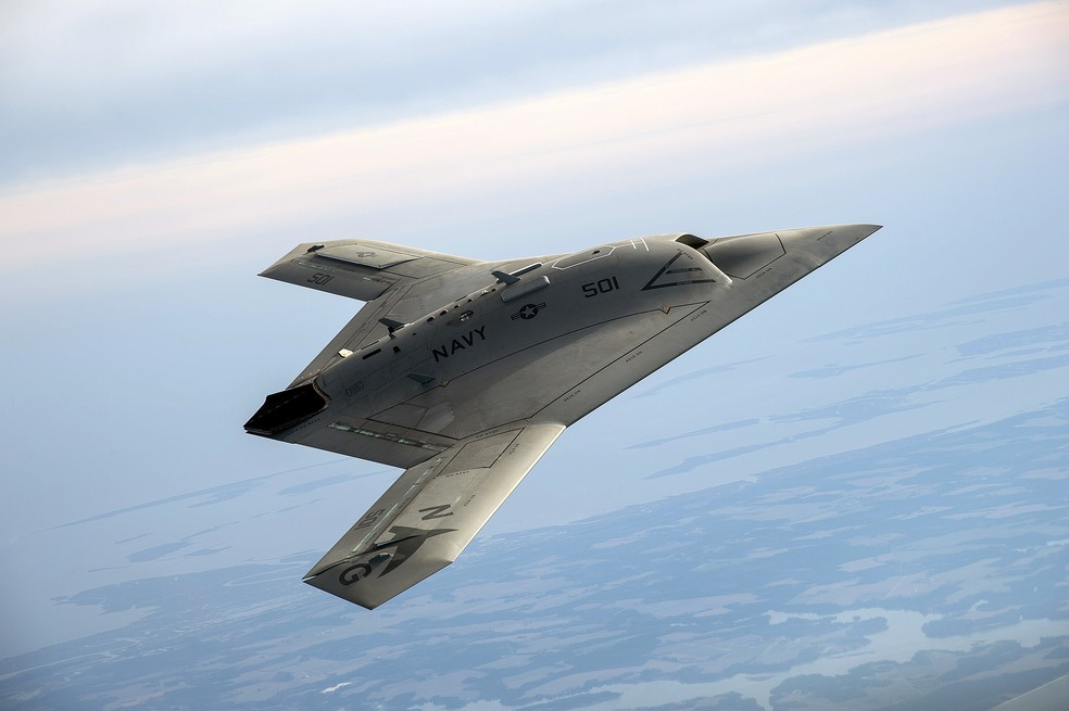 X-47B, drone da Northrop Grumman. (Foto: Divulgação/Northrop Grumman)