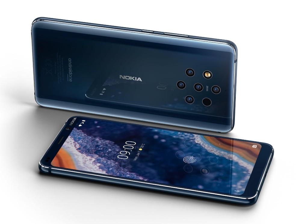Nokia 9 PureView foi apresentado durante a MWC 2019 com cinco câmeras — Foto: Divulgação / Nokia
