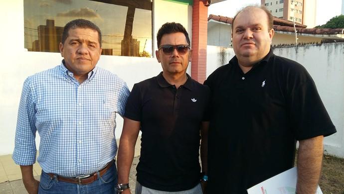 RN - Assu - técnico José Cortina - presidente Leônidas Neto (Foto: Jocaff Souza/GloboEsporte.com)