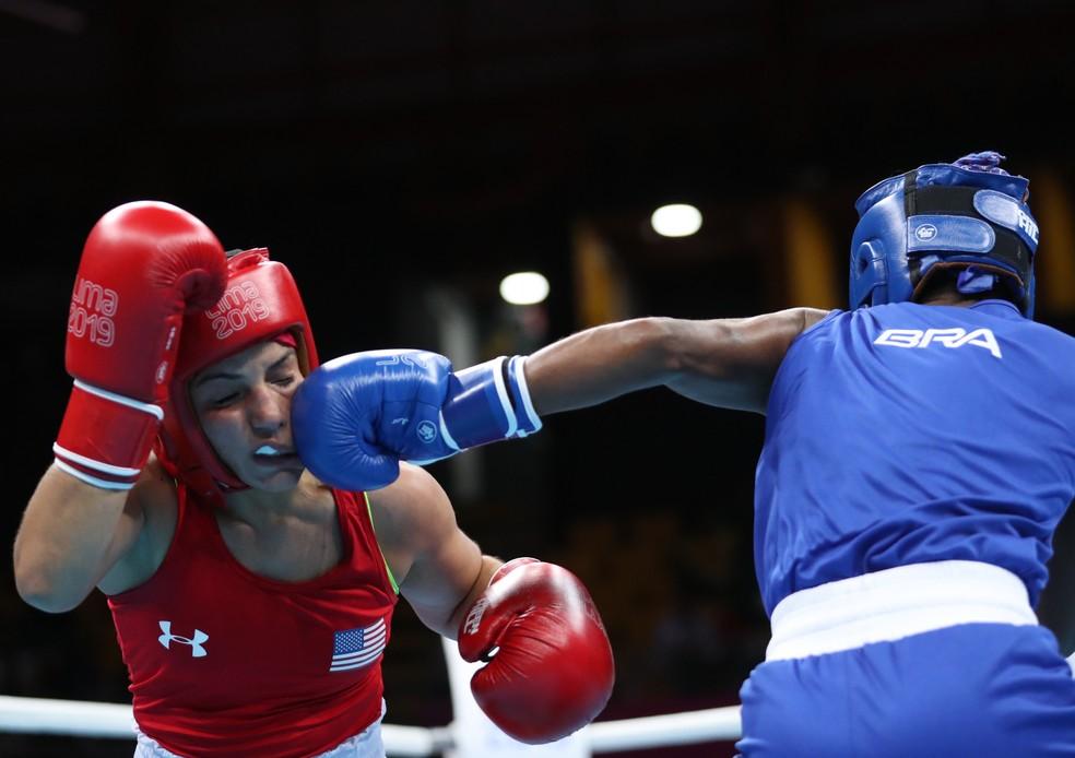 Jucielen Cerqueira venceu a americana Yarisel Ramírez e foi à final no Pan — Foto: REUTERS/Ivan Alvarado