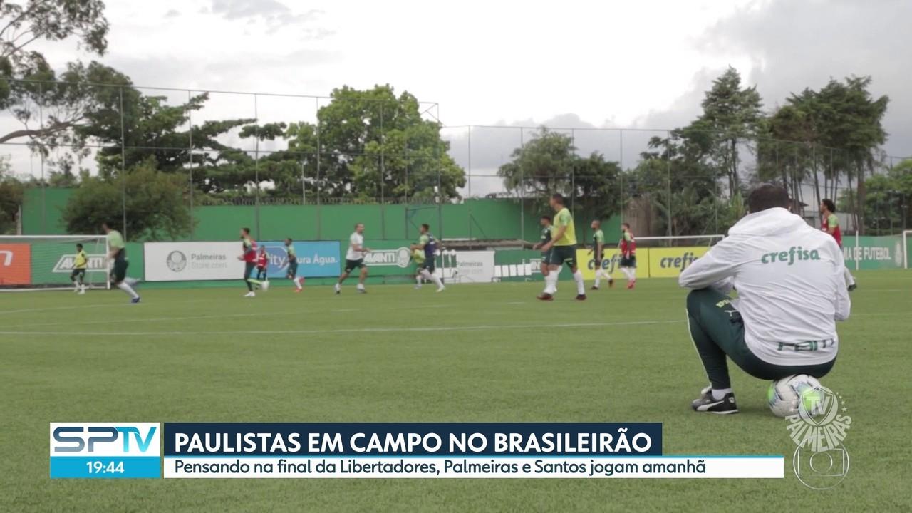 Palmeiras e Santos jogam amanhã pelo Brasileirão