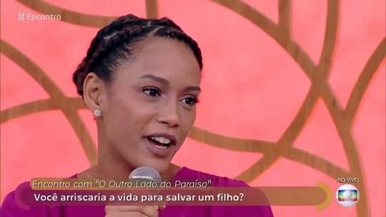 Taís Araújo revela no 'Encontro': 'Eu abriria mão da minha vida pelos meus filhos'