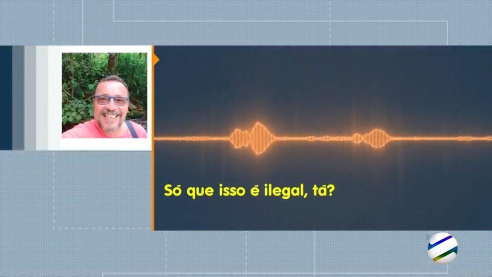 Parte da conversa entre a paciente e o médico que teria cobrado para fazer cirurgia pelo SUS, em Corumbá — Foto: Reprodução/TV Morena
