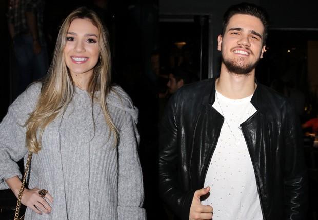 O casal Bruna Santana e o sertanejo Breno (Foto: Thiago Duran/AgNews)