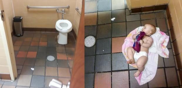 Bebê banheiro (Foto: Facebook)