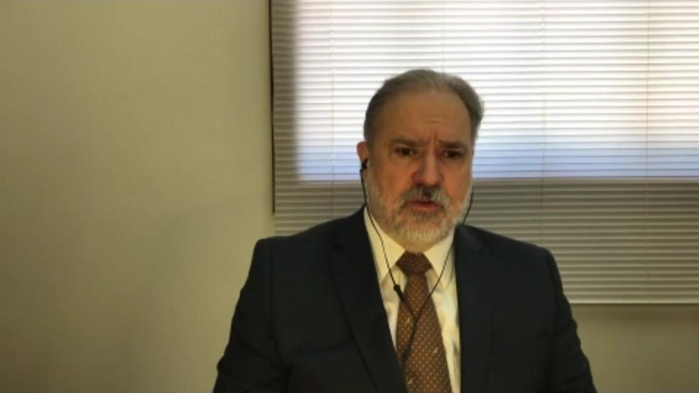 Augusto Aras comenta sobre inquéritos — Foto: Reprodução/TV Globo