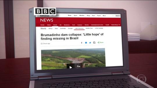 Tragédia em Brumadinho é destaque no noticiário internacional