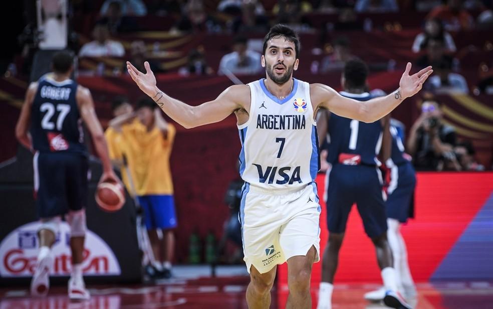 Facundo Campazzo é o grande maestro da Argentina e um dos melhores jogadores do mundial — Foto: Divulgação/FIBA