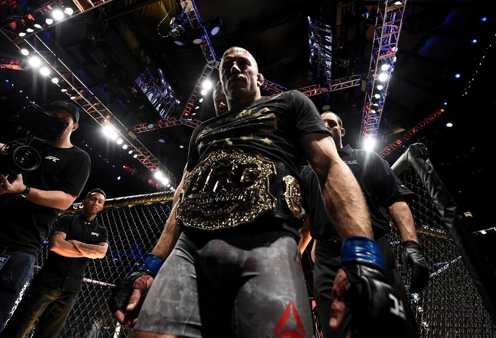 Georges St-Pierre foi campeão do peso-médio do UFC no ano passado (Foto: Getty Images)