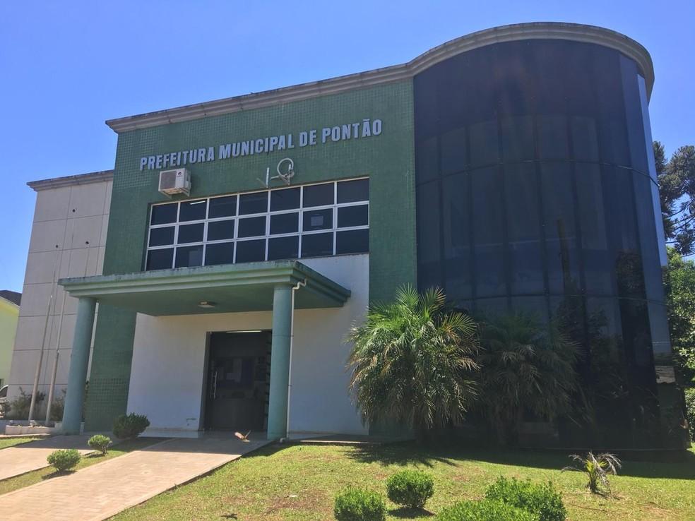 Prefeitura de Pontão teve um desvio de R$ 332 mil — Foto: Juliano Castro