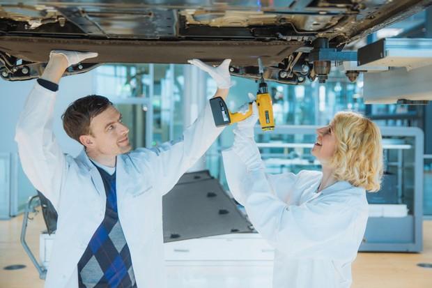 Volkswagen Fábrica e-Golf montagem (Foto: Divulgação)