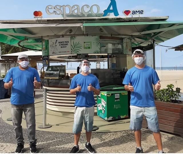 Quiosque na orla da Praia do Leme chegou a ficar 4 meses fechado em 2020; movimento de clientes só retomou no 2º trimestre de 2021 — Foto: Divulgação