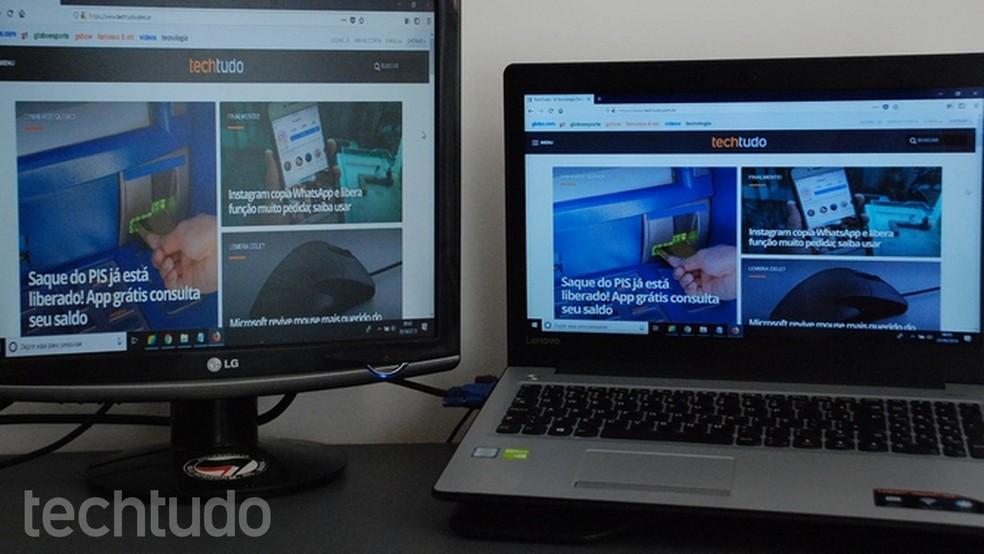 Ao utilizar notebooks em outros displays, o dispositivo perde sua portabilidade — Foto: Raquel Freire/TechTudo