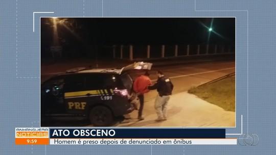 Homem é preso suspeito de se masturbar ao lado de jovem dentro de ônibus na BR-060, em Anápolis