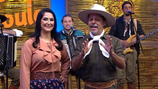 Paulinho Mocelin & Coração de Gaiteiro foi uma das atrações do 'Galpão Crioulo'; reveja os vídeos