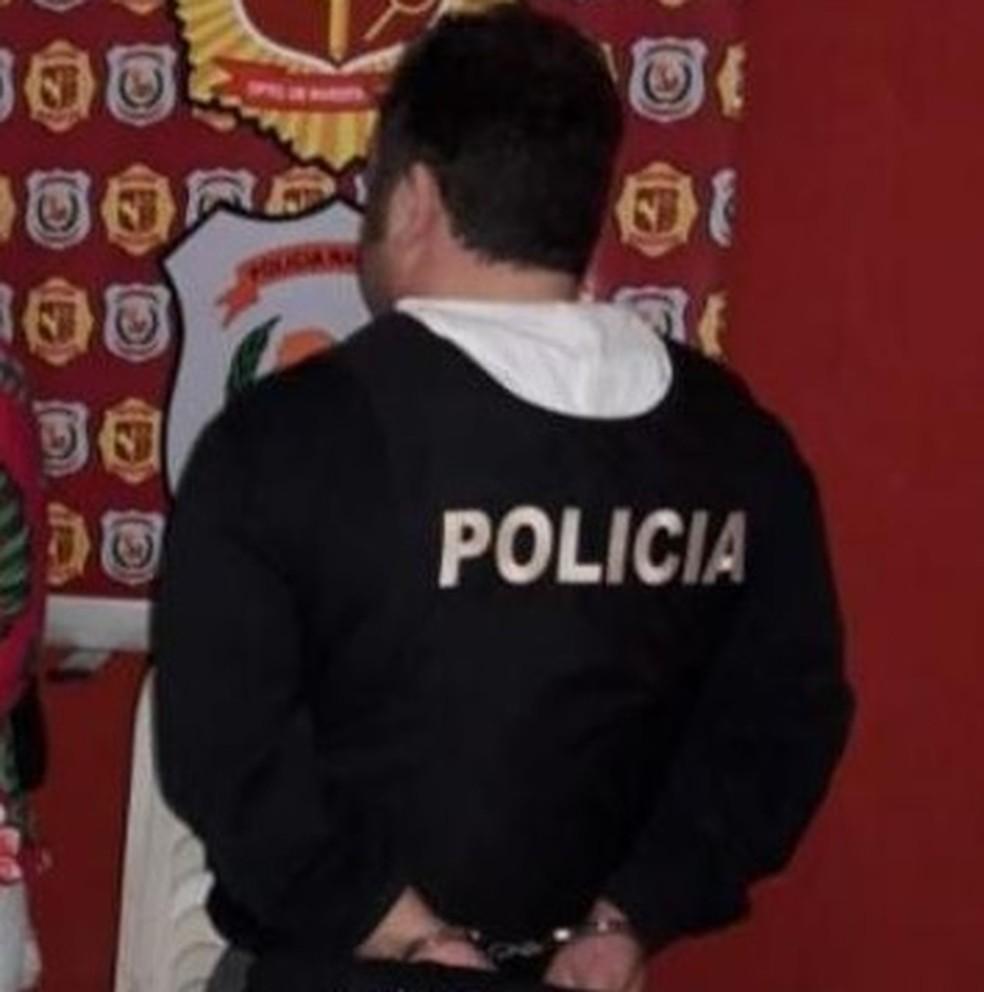 Homem foi preso no Paraguai, segundo a Polícia Civil — Foto: Polícia Civil/Divulgação