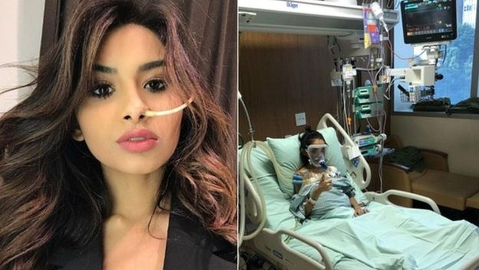 O caso mais famoso entre os jovens que compartilharam a luta contra o câncer nas redes é o da modelo Nara Almeida, de 24 anos (Foto: Reprodução/Instagram)