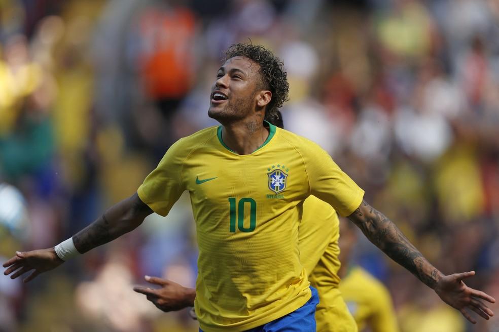 neymar gol brasil croácia (Foto: Pedro Martins / Mowa Press)