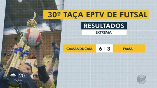 Confira os gols e resultados da rodada desta quinta-feira (16) da Taça EPTV de Futsal