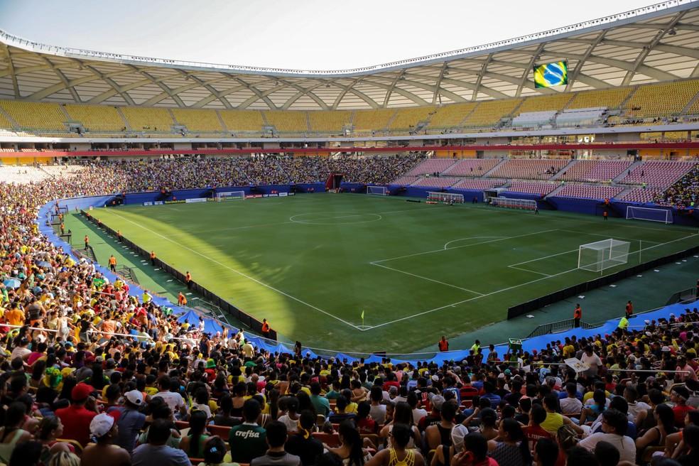 treino seleção brasileira Arena da Amazônia — Foto: Pedro Martins / MoWA Press