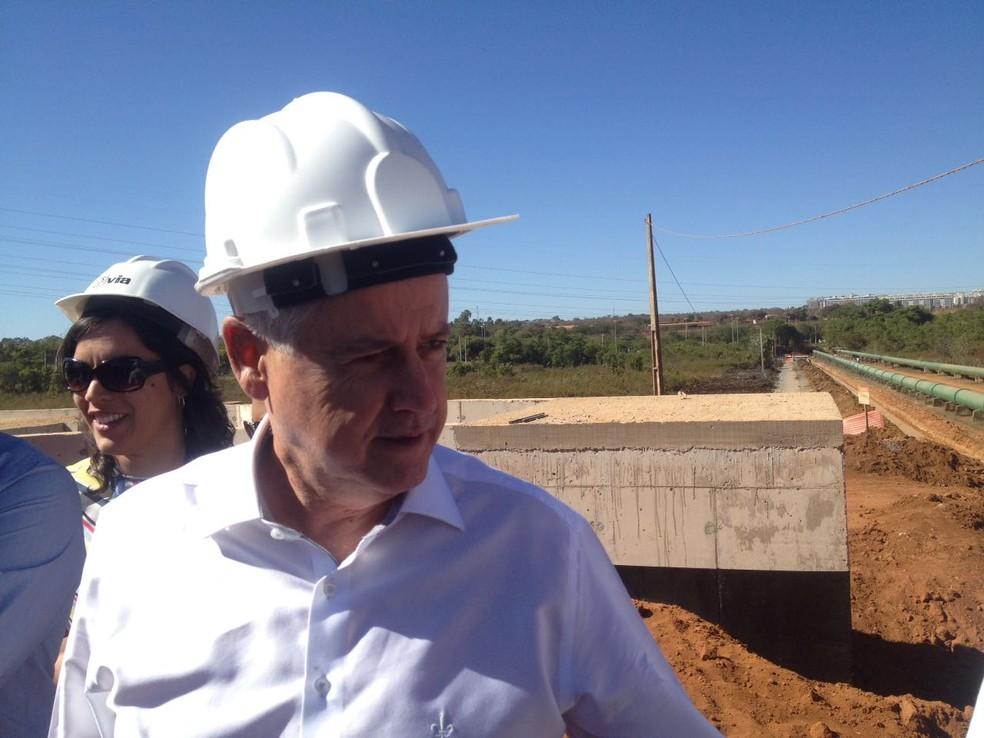Governador Rodrigo Rollemberg em coletiva nesta terça (5) (Foto: Bianca Marinho/G1)