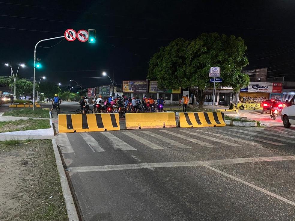 Av. João Paulo é interditada para obras de drenagem, em Belém. — Foto: Reprodução