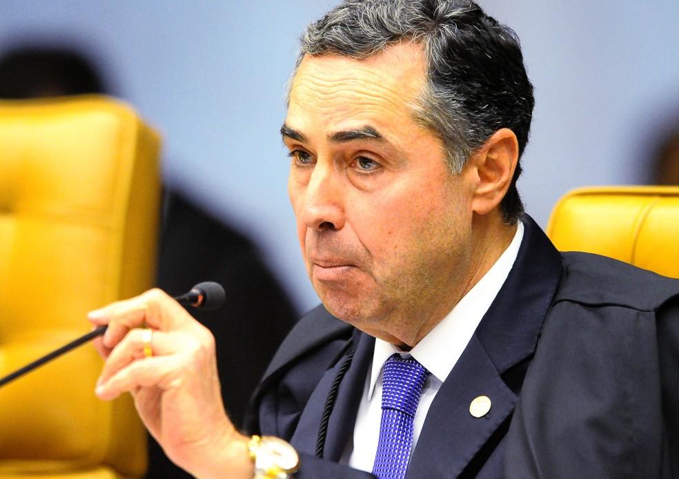 Luís Roberto Barroso: dificilmente alguém é preso por não pagar imposto, já que a pena máxima é de dois anos — Foto: Divulgação STF