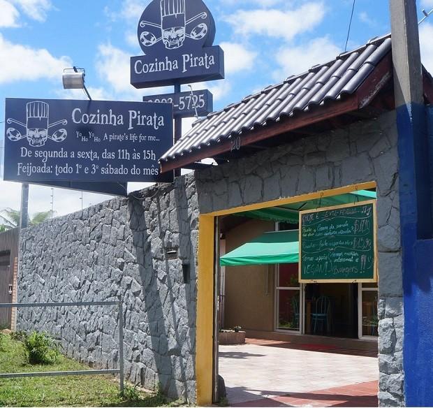 """Fachada do restaurante """"Cozinha Pirata"""" (Foto: Reprodução/Facebook)"""