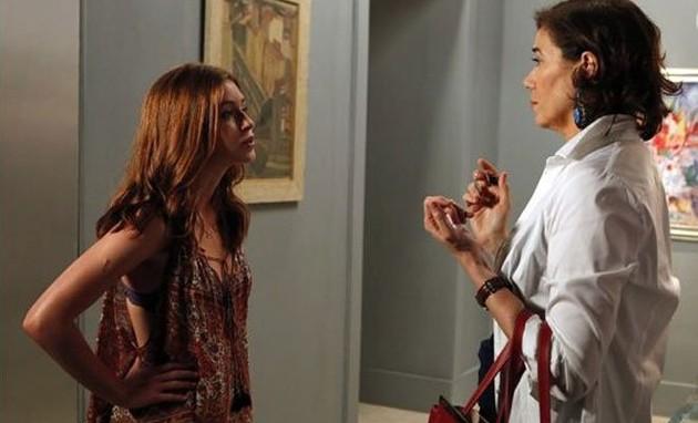 Marina Ruy Barbosa e Lilia Cabral em cena de 'Império' (Foto: Reprodução)