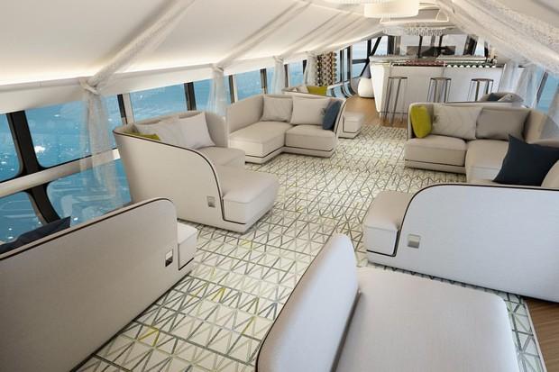 O interior foi criado em parceria com a empresa de design de automóveis e de aviação Design Q (Foto: divulgação)