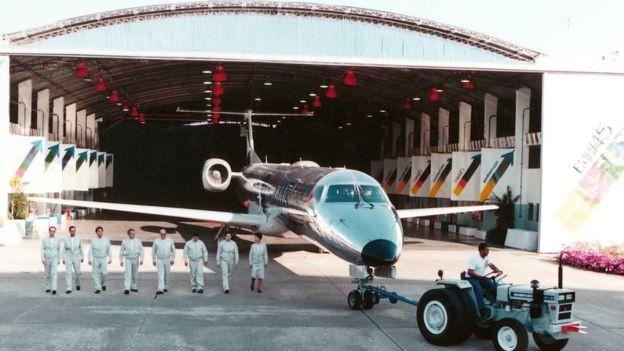 Recuperação da Embraer após a reestruturação foi impulsionada por projetos como o do jato comercial ERJ-145 para 50 passageiros (Foto: DIVULGAÇÃO/EMBRAER)
