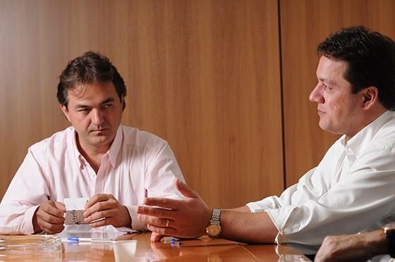 Os irmãos Joesley e Wesley Batista (Foto: Claudio Belli/Valor)