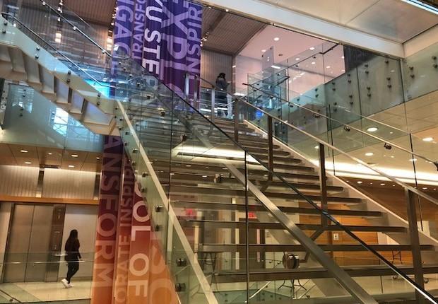 Área interna da Universidade de Nova York (Foto: Fernanda Lopes)
