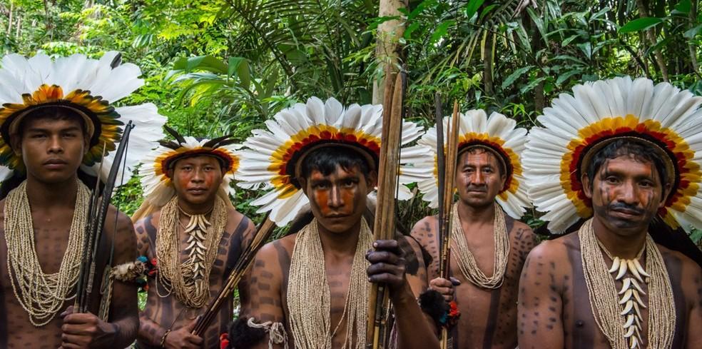Índios Rikbaktsa do noroeste de Mato Grosso — Foto: Projeto Pacto das Águas