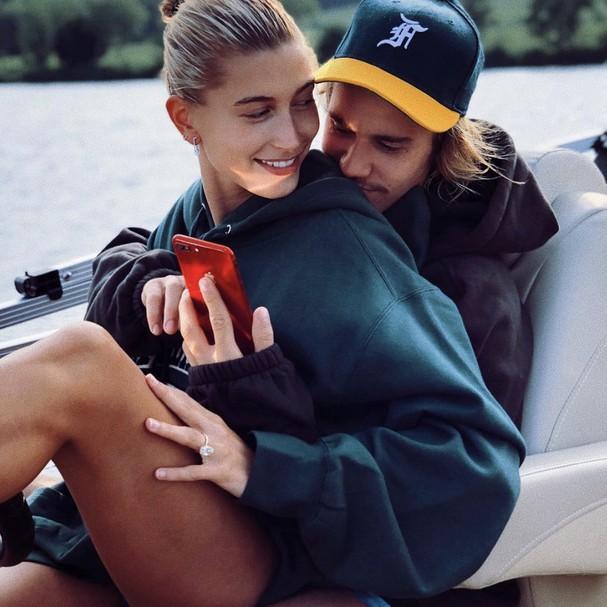 Hailey Baldwin e Justin Bieber (Foto: Reprodução Instagram)