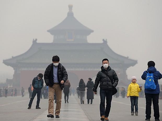 Poluição do ar na China causado pelas indústrias.
