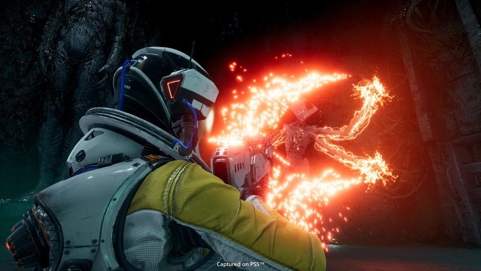 Returnal traz criaturas horripilantes em um planeta alienígena — Foto: Divulgação/PlayStation