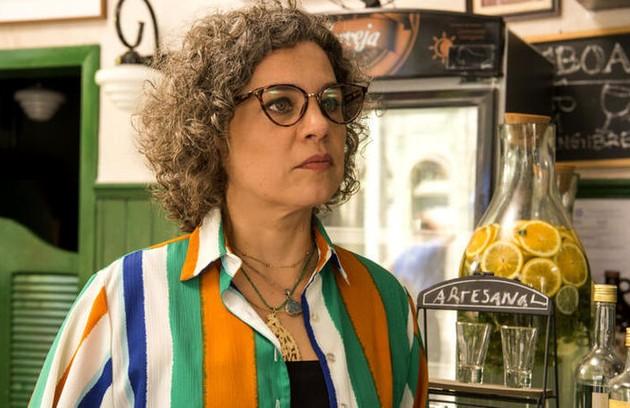 Outra vítima de Thelma será Jane (Isabel Teixeira), que acabará assassinada ao descobrir toda a verdade sobre Danilo (Foto: Reprodução)