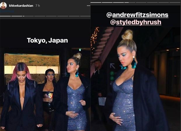 Khloé curte passeio com as irmãs Kim e Kourtney Kardashian (Foto: Reprodução/Instagram)