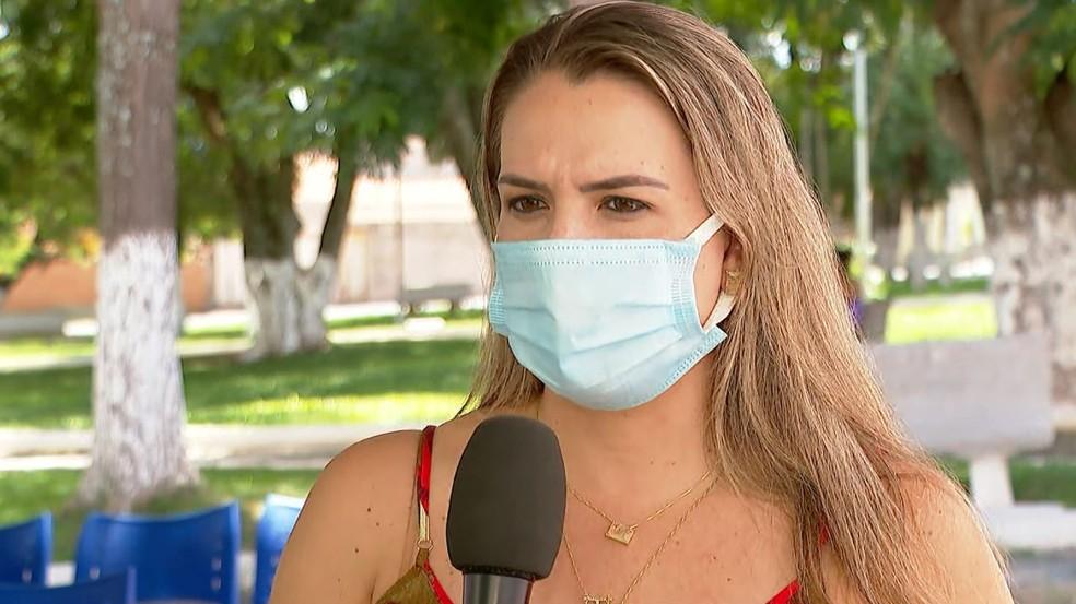 Diretora do Departamento de Saúde de Jeriquara, SP, Juliana Sarreta Lucindo — Foto: Jefferson Severiano Neves/EPTV