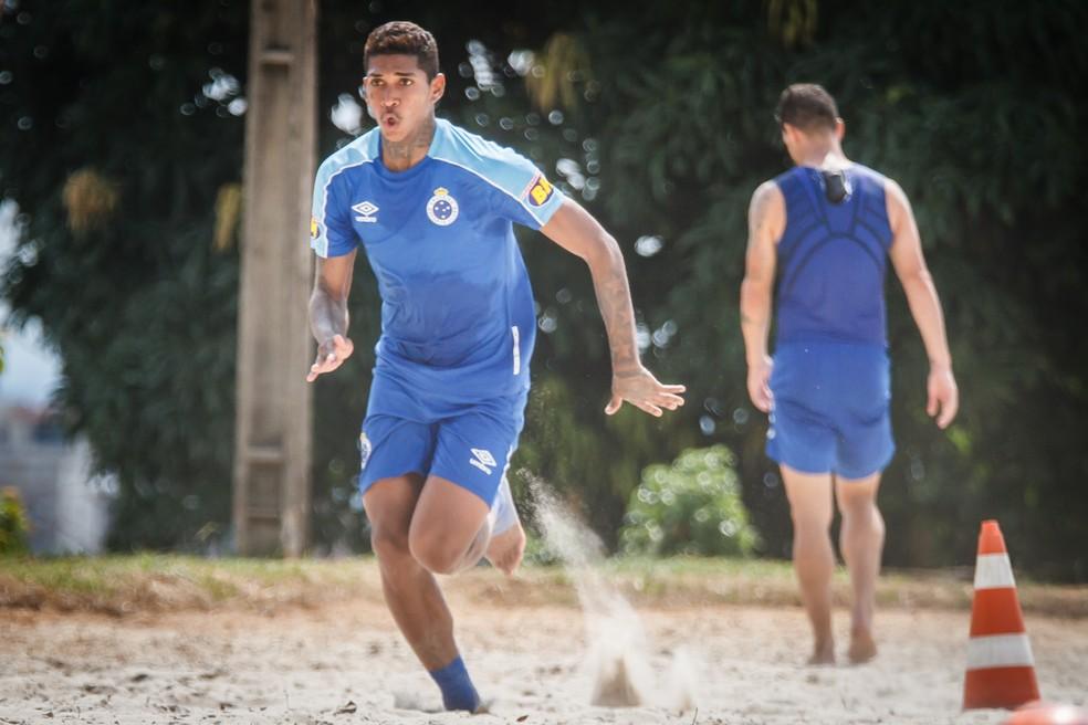 Raniel vem se tratando no Cruzeiro há mais de um mês — Foto: Vinnicius Silva/Cruzeiro