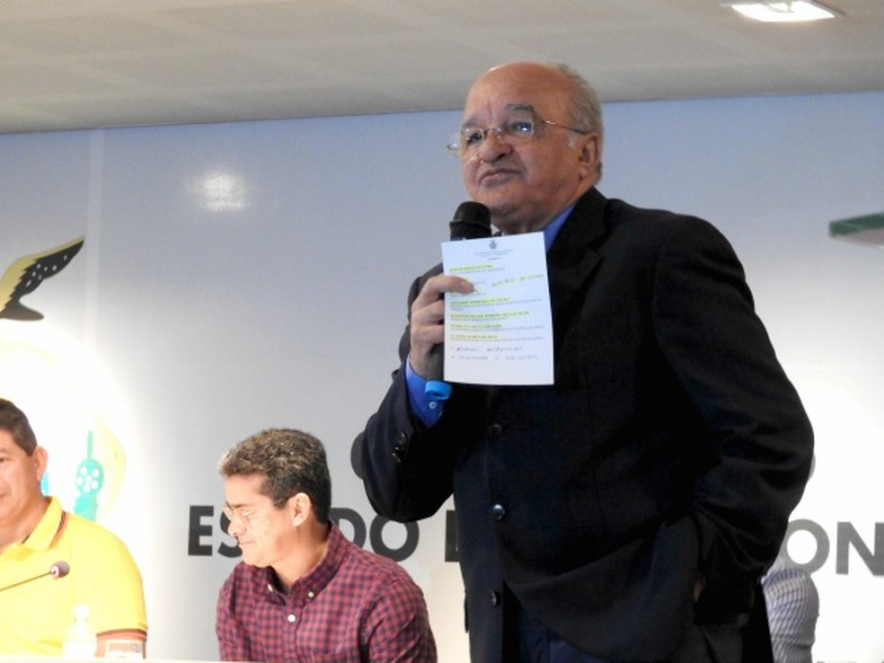 Imagem mostra o governador afastado do Amazonas, José Melo (PROS) (Foto: Adneison Severiano/G1 AM)