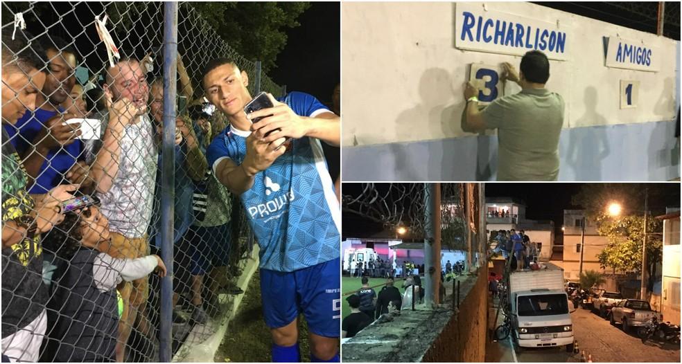 Nos braços do povo veneciano, Richarlison se emociona e deixa a sua marca em jogo beneficente — Foto: Marcella Scaramella/A Gazeta