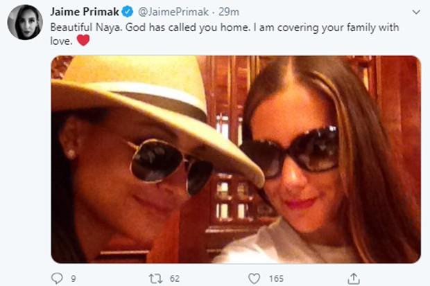 Famosos lamentam morte de Naya Rivera (Foto: Reprodução/Twitter)