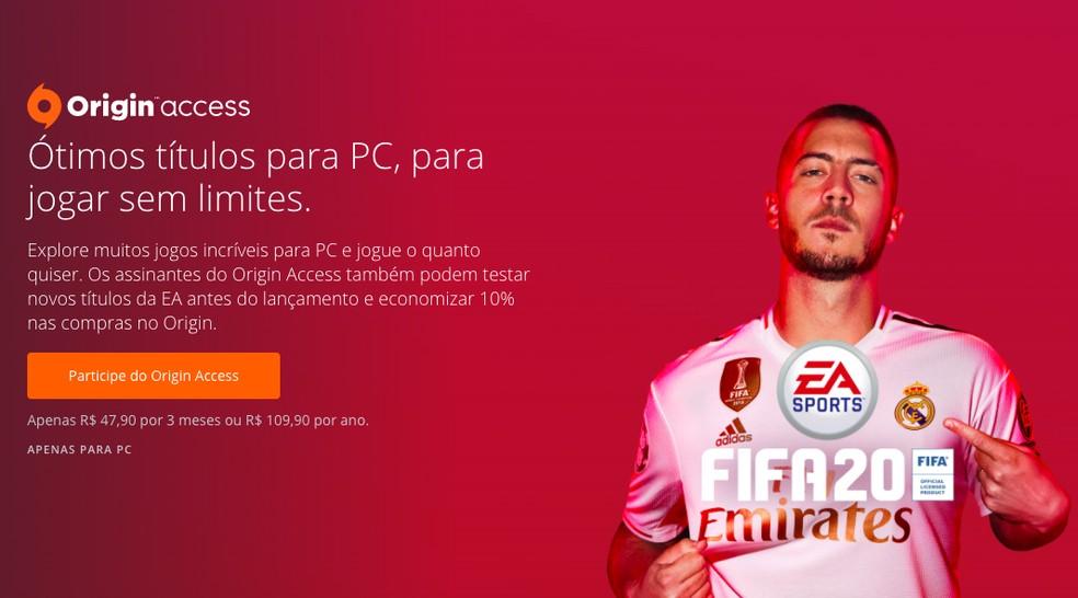 No PC não há EA Access — Foto: Reprodução/Felipe Vinha