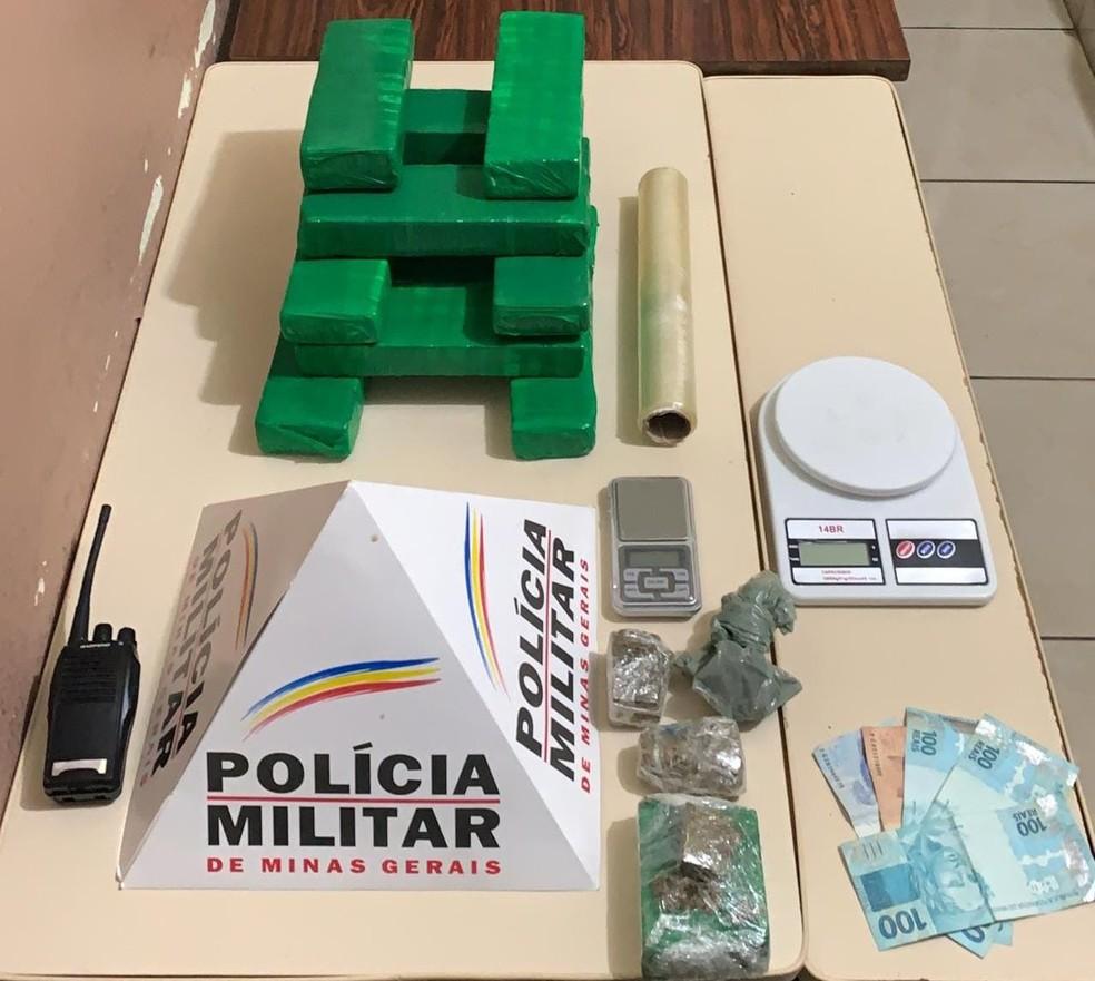 Material apreendido no bairro Alphaville — Foto: Polícia Militar/Divulgação