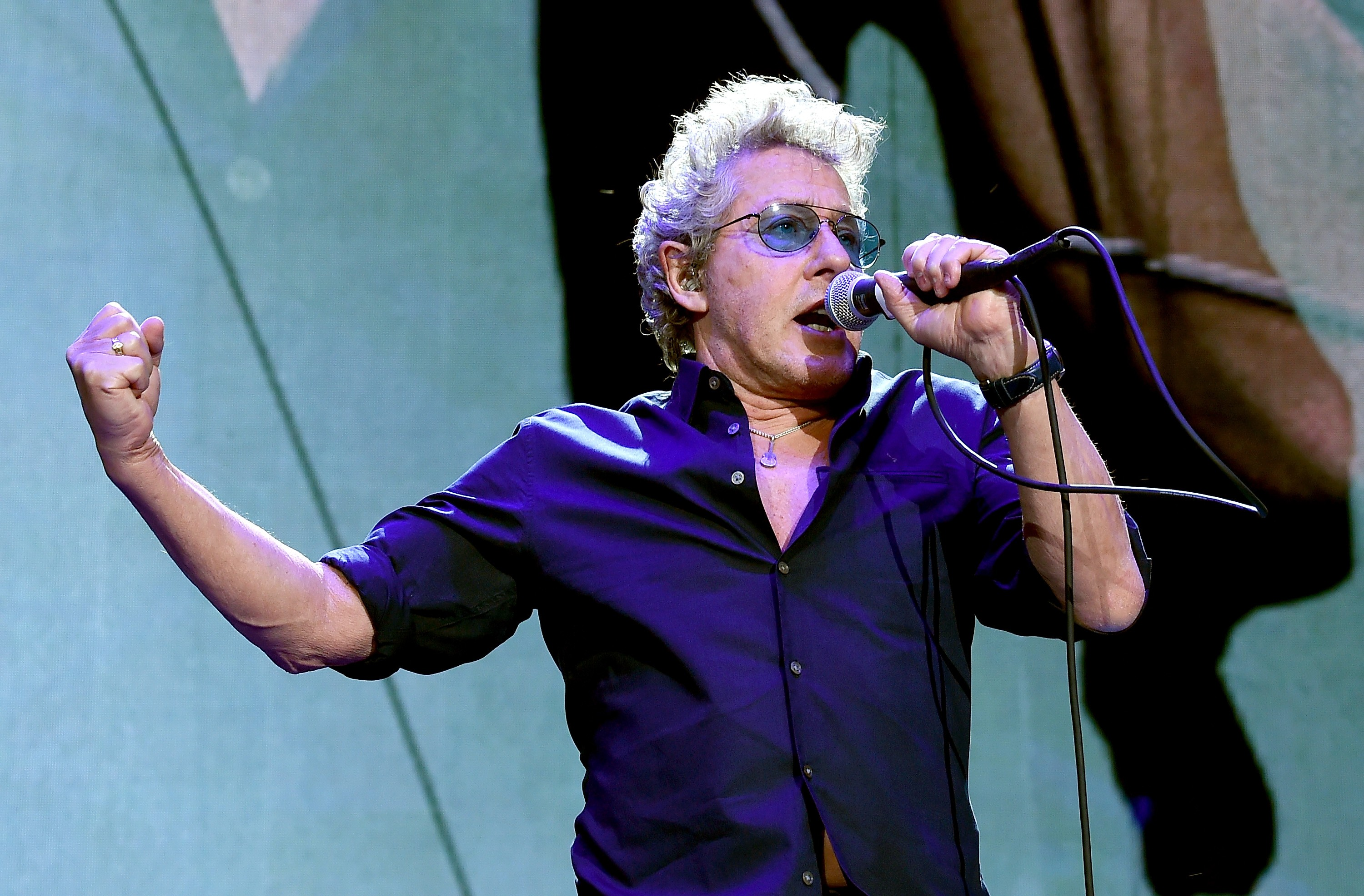 Roger Daltrey, vocalista do The Who, durante show na Califórnia em 2016 (Foto: Getty Images/ Kevin Winter )