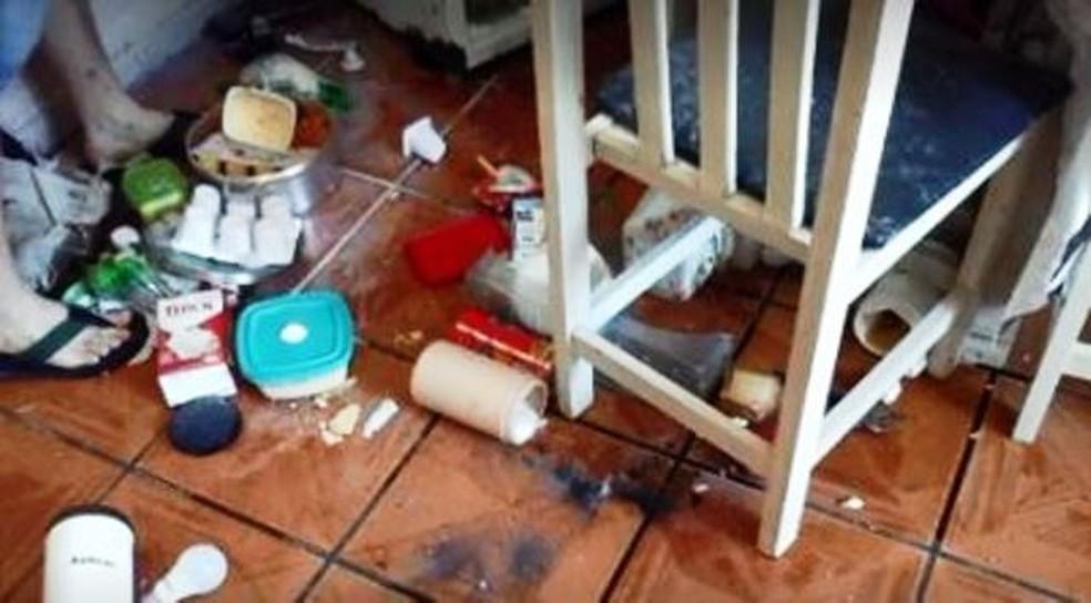 Acidente ocorreu na cozinha em Camboriú — Foto: Reprodução/ NSC TV