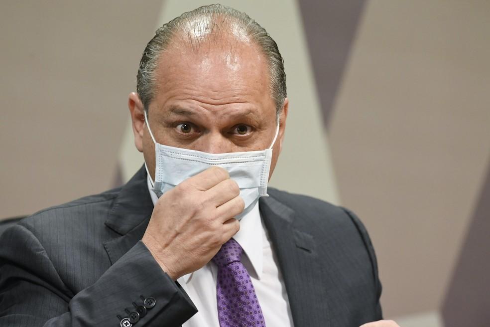 Ricardo Barros na CPI, em foto de agosto — Foto: Jefferson Rudy/Agência Senado